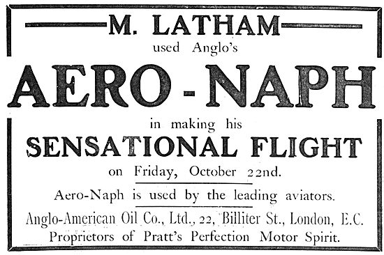 Pratts Aviation Spirit : Aero-Naph