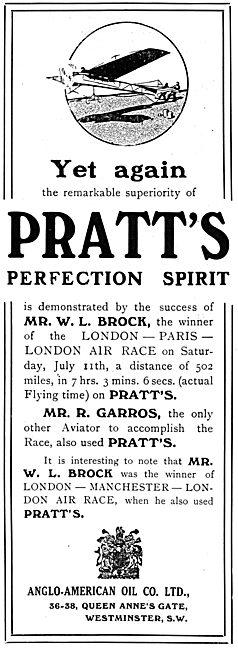 Mr W.L.Brock Demonstrates The Reliability Pratts Aviation Spirit