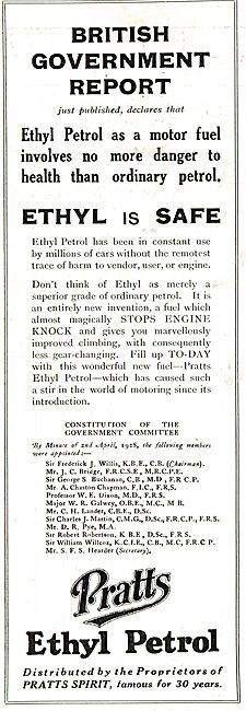 Pratts Aviation Spirit - Ethyl: British Government Report.