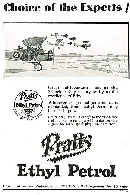 Pratts Ethyl Petrol - The Choice Of Experts.