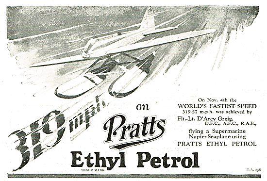 319 MPH On Pratts Ethyl Petrol