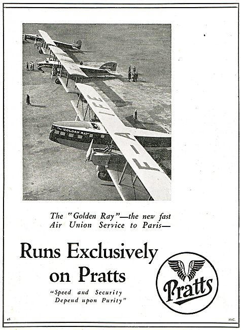 The Air Union Golden Ray Service Runs Exclusively On Pratts