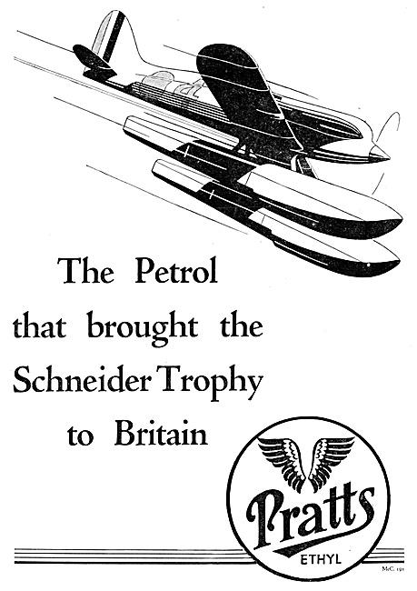 Pratts Ethyl Aircraft Fuel 1929