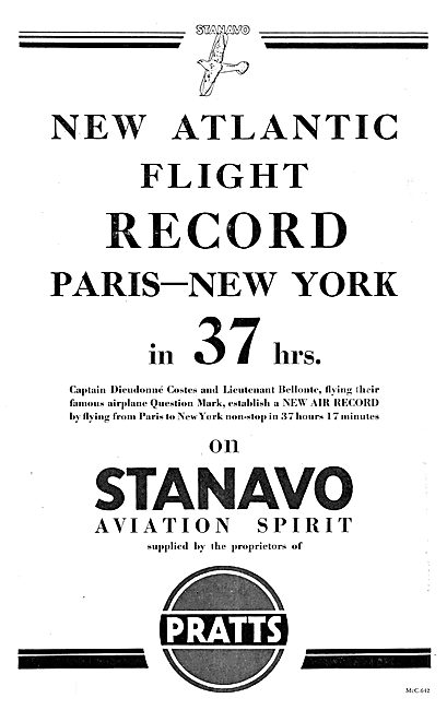 Pratts Aviation Spirit - Stanavo