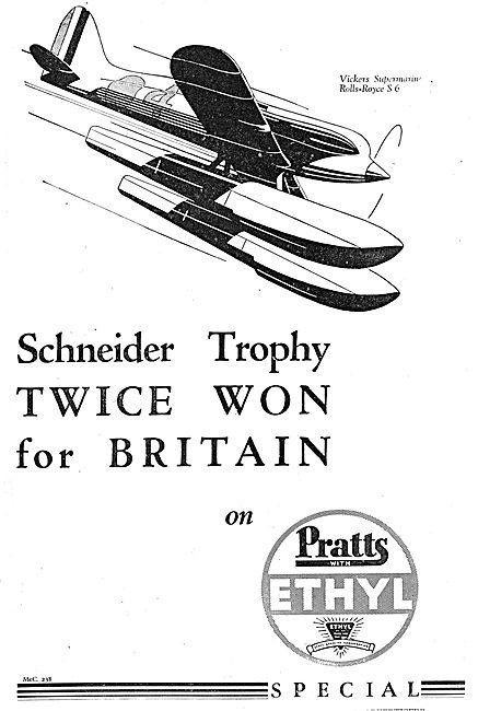 Pratts Ethyl Aviation Fuel : Schneider Trophy