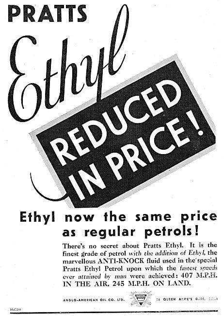 Pratts Ethyl Aviation Spirit Reduced In Price