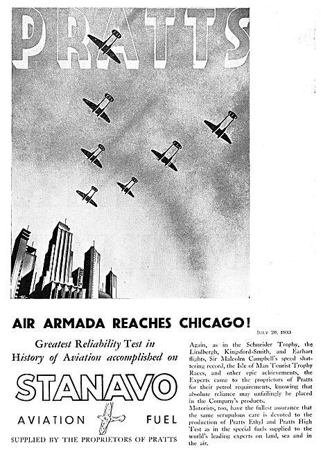 Air Armada Recahes Chicago Using Stanavo Pratts Fuel