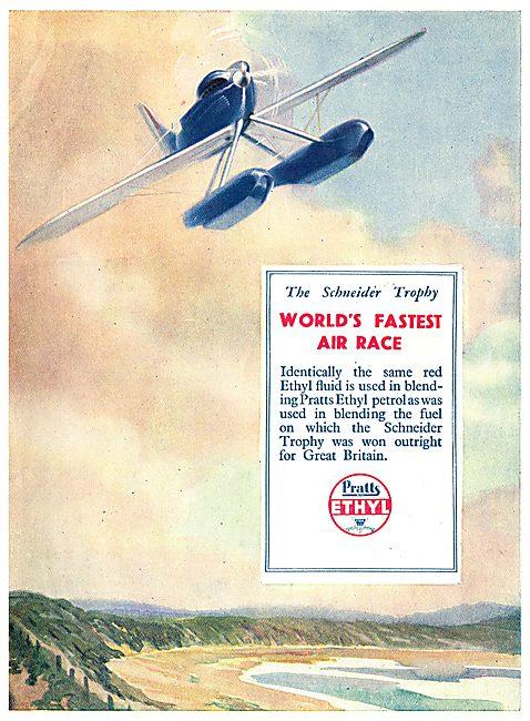 Scheinder Trophy Won Using Pratts Aviation Spirit