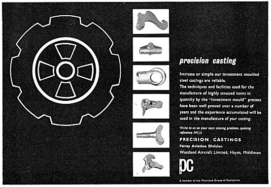 Precision Castings Ltd. Hayes - Fairey Aviation Division