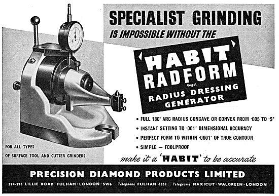 Precision Diamond : Machine Tools. Radform Radius Generator