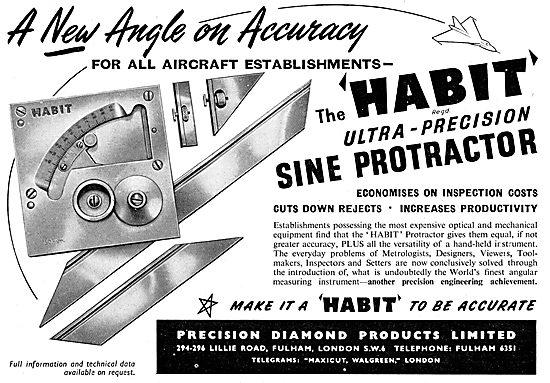Precision Diamond Products - HABIT Precision Sine Protractor