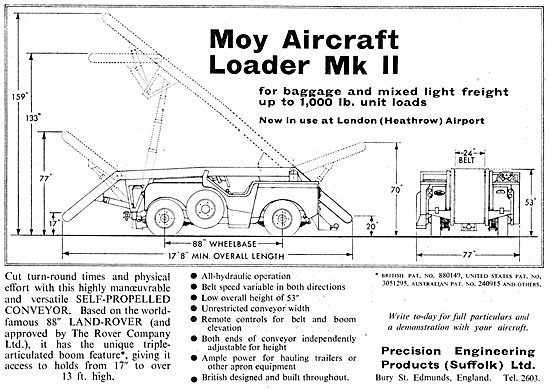 Precision Engineering Products - MOY Aircraft Loader Mk II