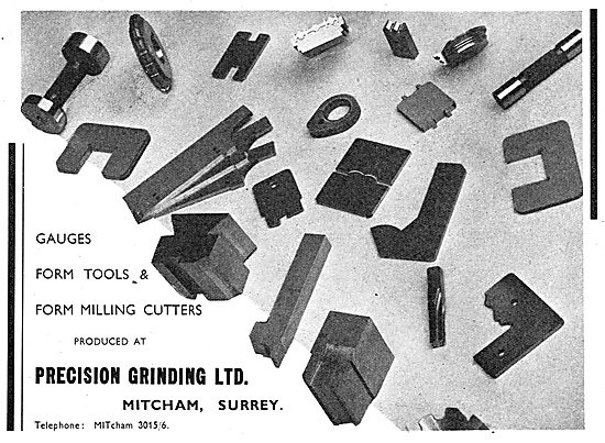Precision Grinding Ltd. Mitcham 1939