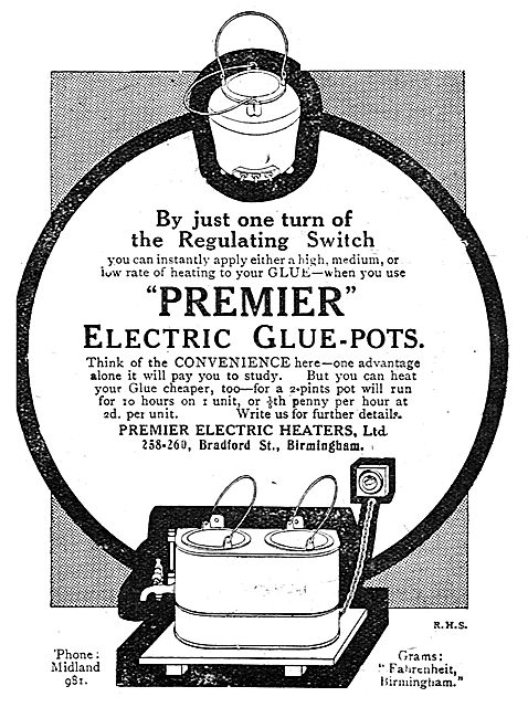 Premier Electric: Electrically Heated Glue Pots