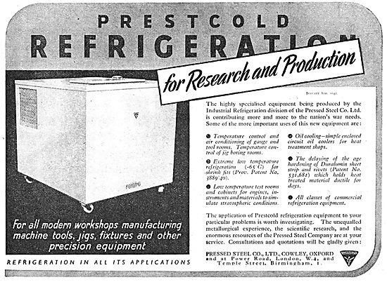 Prestcold Refrigeration For Engineering