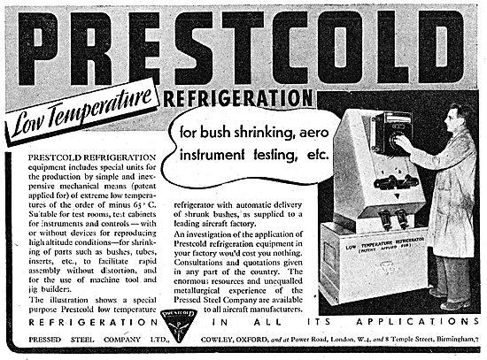 Pressed Steel : Prestcold Industrial Refigeration 1942