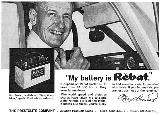 Prestolite Rebat Aircraft Batteries