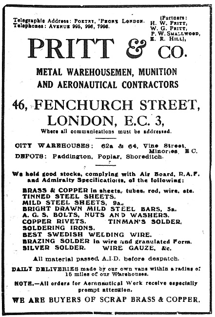 Pritt & Co - Metal Warehousemen & Munitions Contractors
