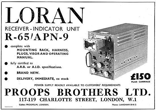 Proops Bros ARB & AID Spec Loran Receiver Unit R-65/APN-9