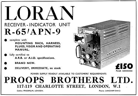 Proops Bros Radio & Navigation Equipment Sales & Service.  Loran