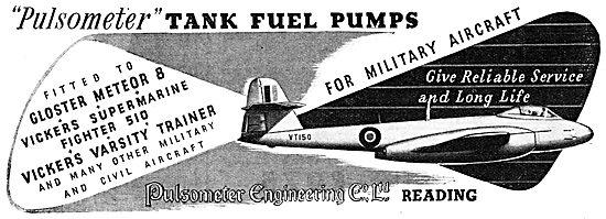 Pulsometer Aero Engine Fuel Pumps 1950
