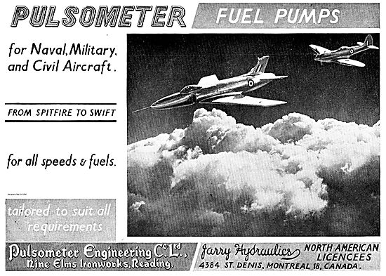 Pulsometer Fuel Pumps For Aero Engines. Spitfire To Swift.