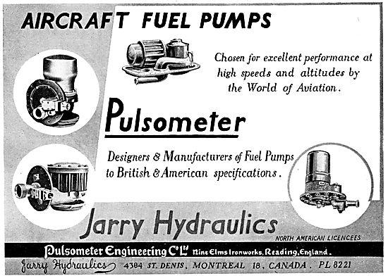 Pulsometer Tank Fuel Pumps - Jarry Hydraulics