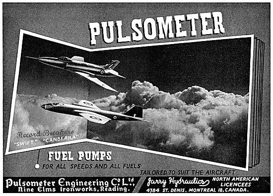 Pulsometer Aero Engine Fuel Pumps