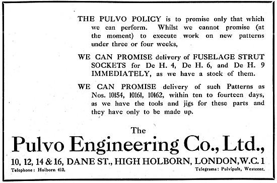 Pulvo  Aeronautical Engineering & Component Manufacturers 1917