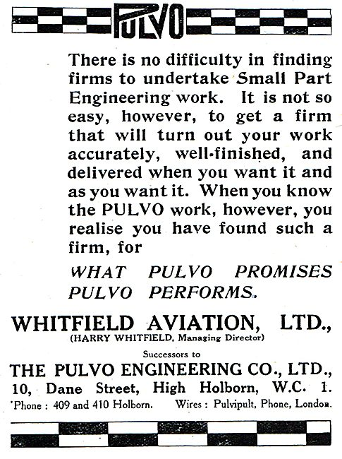 Whitfield Aviation Ltd Successors To Pulvo Engineering Co Ltd