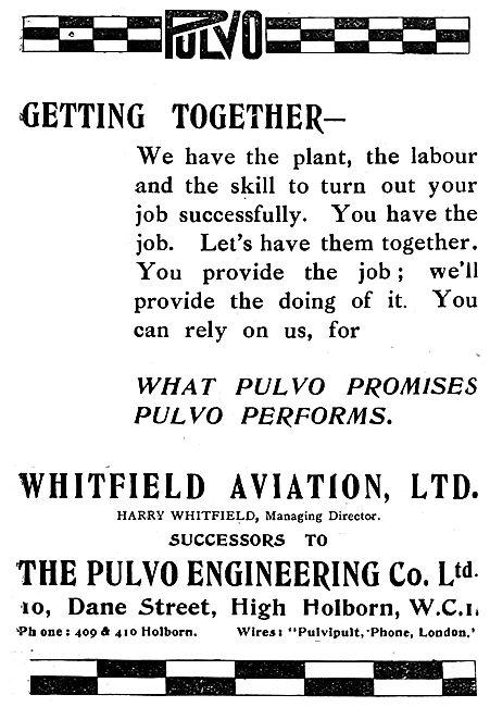 Pulvo Engineering Co Ltd - Whitfield Aviation Ltd 1919