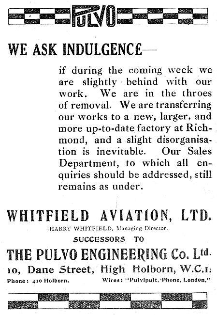 Pulvo Engineering Co Ltd - Whitfield Aviation Ltd