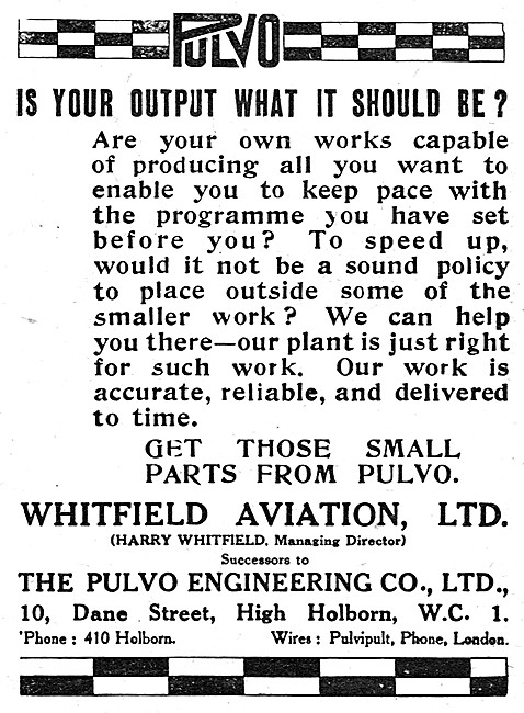 Pulvo Engineering Now Whitfield Aviation Ltd. Engineers