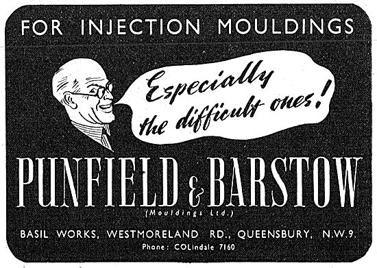 Punfield & Barstow Injection Mouldings 1942 Advert