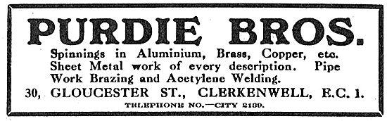 Purdie Bros. Clerkenwell. - Aeronautical Sheet Metal Work