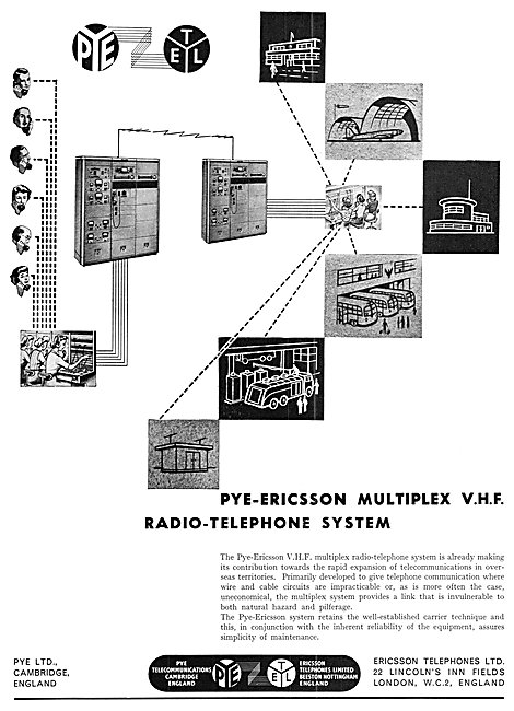 Pye-Ericsson Multiplex VHF Radio-Telephone System