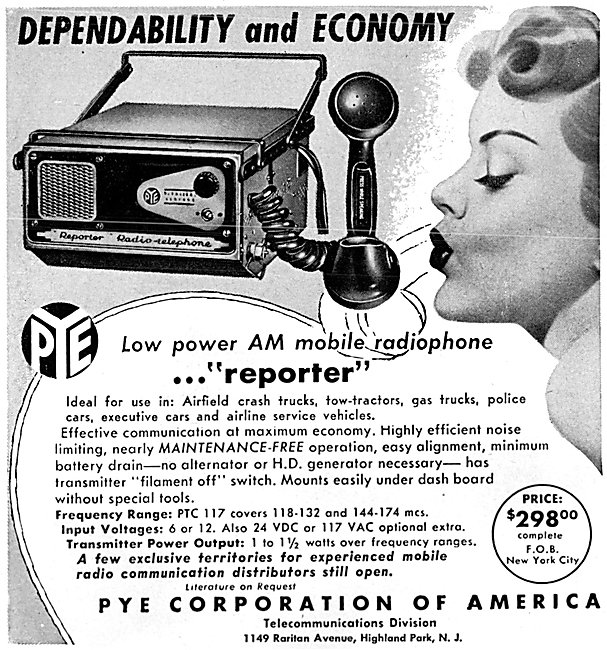 Pye AM Mobile Radiotelephone - Pye Reporter