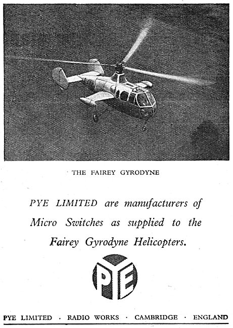 Pye Electrical Equipment For Aircraft 1949