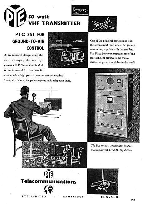 Pye 50 Watt VHF Transmitter PTC 351 For Ground To Air Control