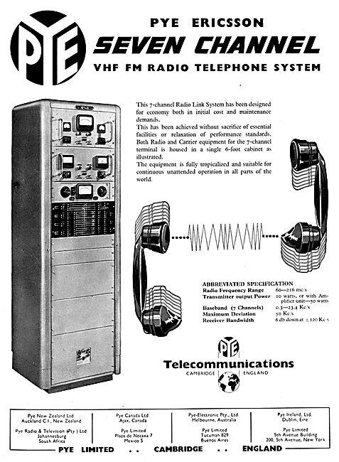 Pye Ericsson Seven Channel VHF FM Radio Telephone System