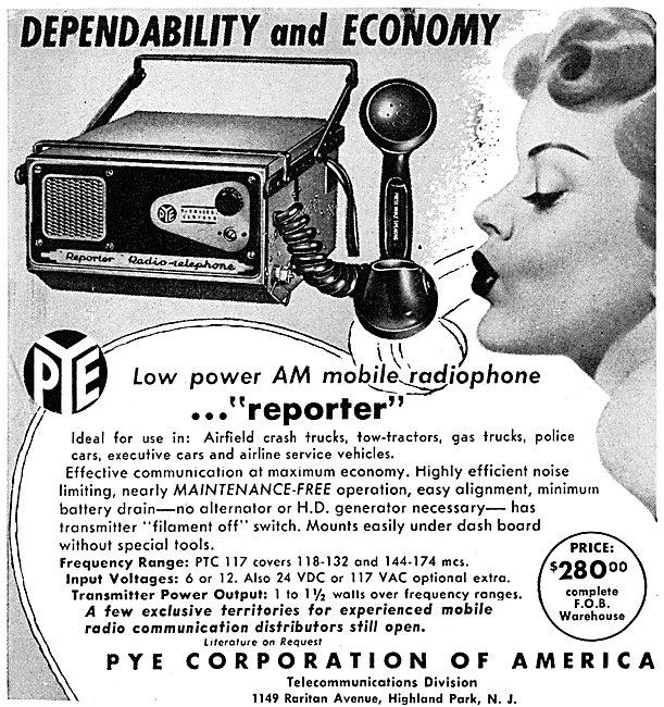 Pye Reporter Mobile AM Radiotelephone