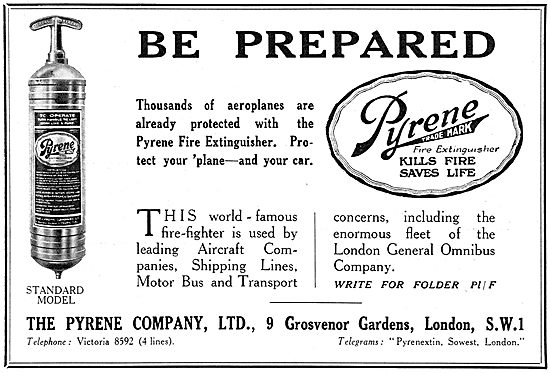 Pyrene Fire Extinguisher 1929 Advert