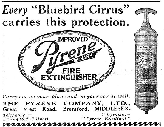 The Pyrene Improved Aircraft Fire Extinguisher