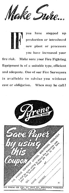 Pyrene Factory Fire Fighting Equipment