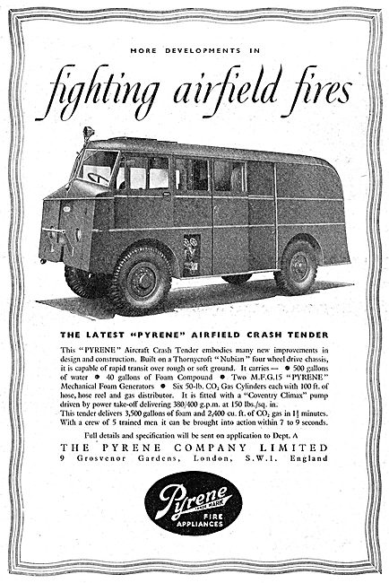 Pyrene Airfield Crash Tenders. Thornycroft Nubian Chassis 1949