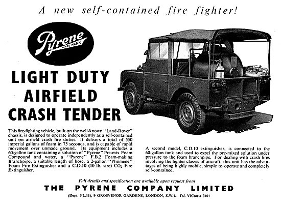 Pyrene Light Duty Airfield Crash Tender - Land Rover