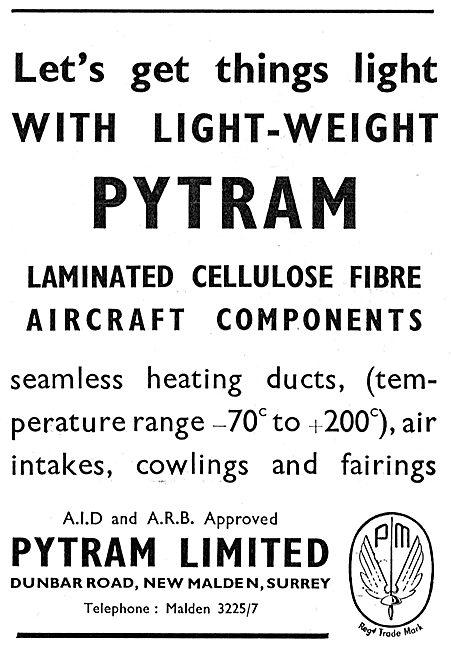 Pytram Laminated Fibre Aircraft Components