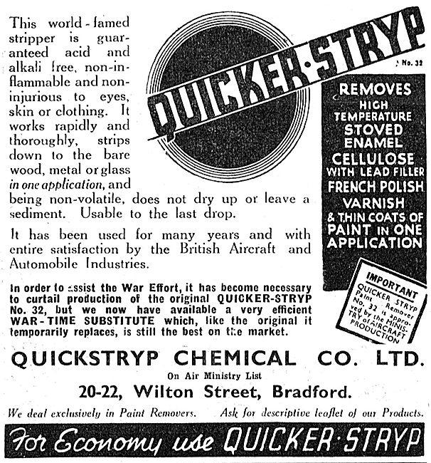 Quickstryp Paint Stripper 1943 Advert
