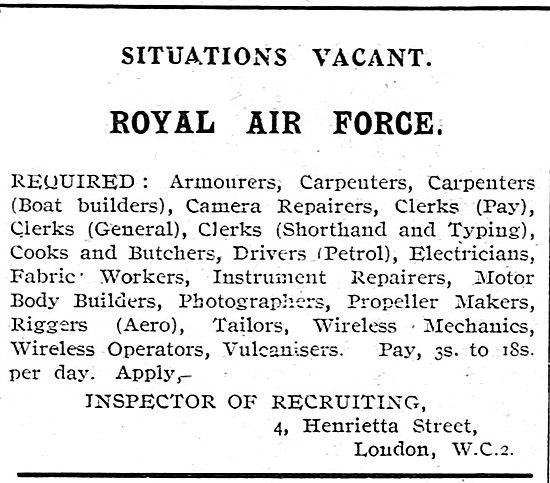 RAF Recruitment: - Tradesmen