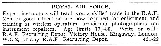 RAF Recruitment - Aircrew & Tradesmen